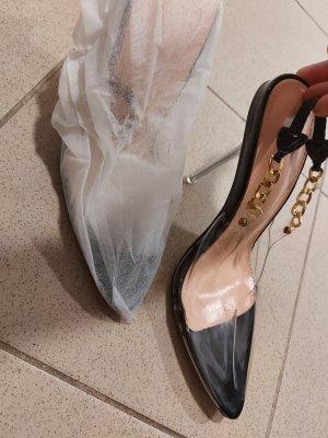 xxx Hoge hakken sandalen zwart-goud