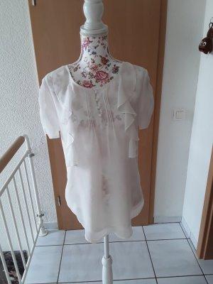 BODY FLIRT Transparentna bluzka kremowy