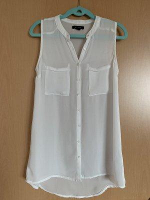 Amisu Transparentna bluzka kremowy