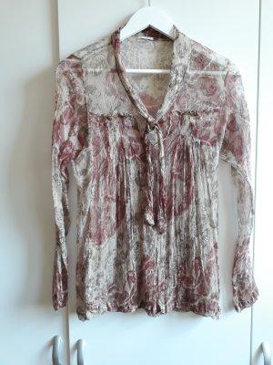 Transparente Bluse aus Seide