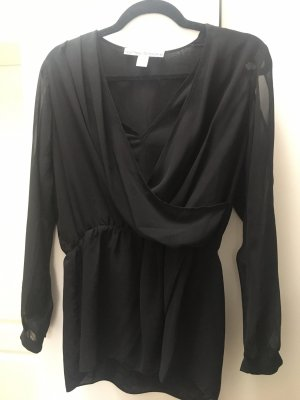 Ashley Brooke Blouse transparente noir