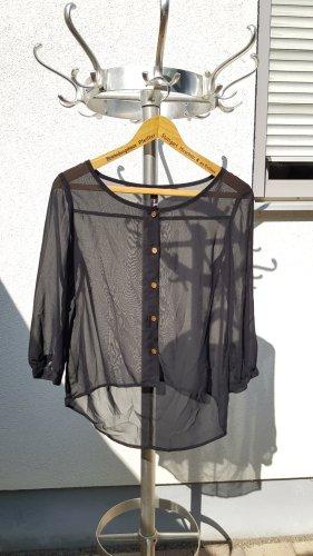 Rainbow Transparent Blouse black-gold-colored polyacrylic
