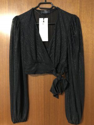 Bershka Transparante blouse zwart