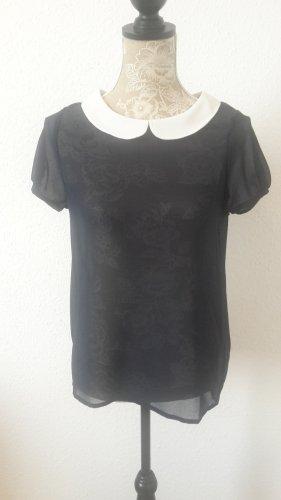 Transparente Bluse mit Bubi Kragen