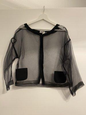 Transparente Bluse mit Knöpfen