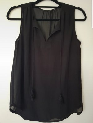 transparente Bluse mit kordeln