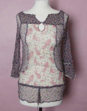 Transparente Bluse mit Paisley-Muster von ZARA *neu*