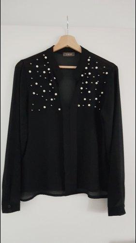 transparente Bluse mit Perlen