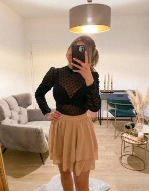 Boutique Comtesse Transparentna bluzka czarny
