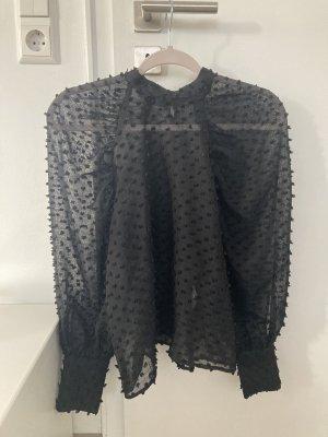 Transparente Bluse mit Puffärmeln ZARA
