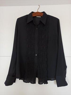 Transparente Bluse mit Raffung