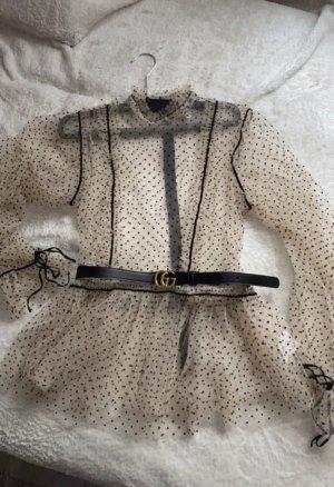 Transparente Bluse mit Rüsschen vintage blogger Style