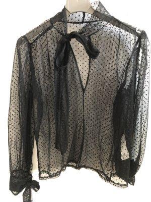 Transparente Bluse mit Schlaufen