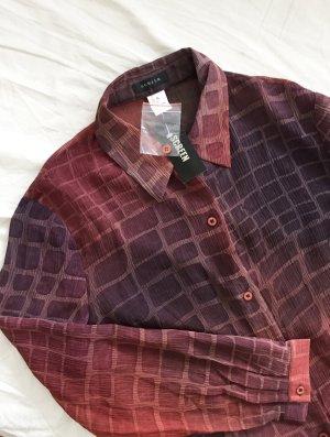 Transparente Bluse mit Seitenschlitzen NEU mit Etikett