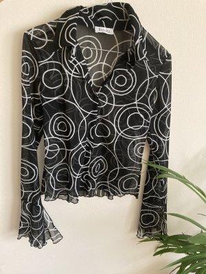 Transparente Bluse mit weiten Ärmeln