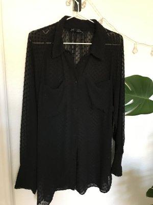 Transparente Bluse oversized