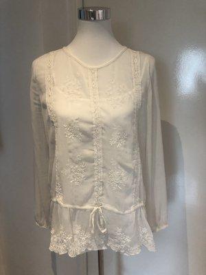 Transparente Bluse und Trägerhemd (2-teilig)