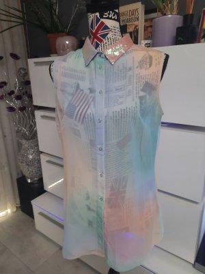 Guess Blusa transparente multicolor