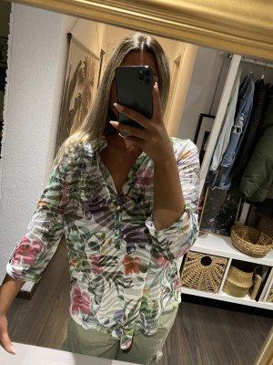 Transparente bunte Bluse mit Strass