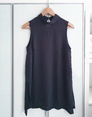 Transparente Highneck Bluse in schwarz