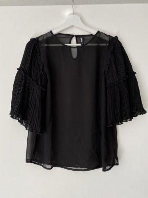 Transparente Kurzarm Bluse