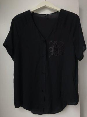 transparente kurzarm Hemd-Bluse