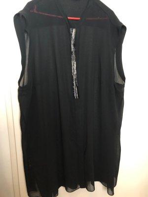 Live Unlimited Blusa larga negro-color plata