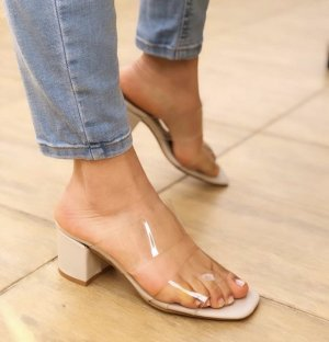Wedge Sandals nude