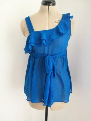 Transparent Blouse blue-neon blue