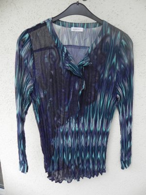 transparente Plissee-Bluse inklusive Top