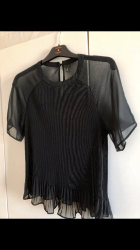 Transparente plissierte Bluse
