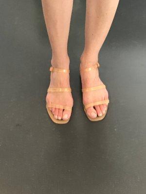Zara Beach Sandals orange mixture fibre