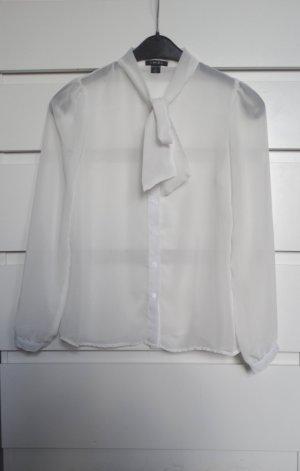 Amisu Blouse avec noeuds blanc-blanc cassé