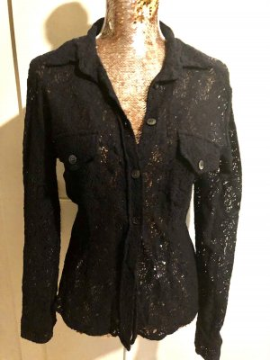 Camera Transparante blouse zwart