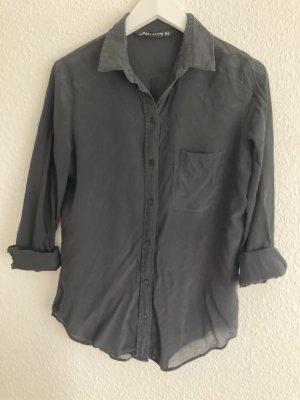 Transparente schwarze Bluse, Gr. M