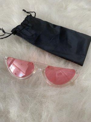 Transparente Sonnenbrille mit rosa Gläsern