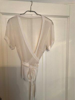 Blusa cruzada crema