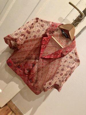 Zara Camicetta a maniche corte rosso mattone