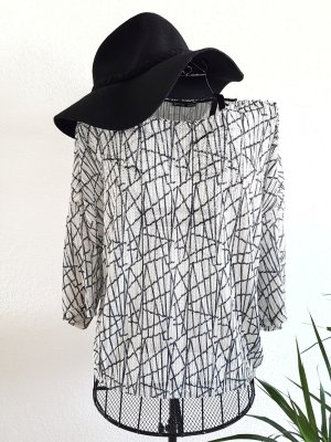 Transparentes 3/4 Arm Bluse von Zara