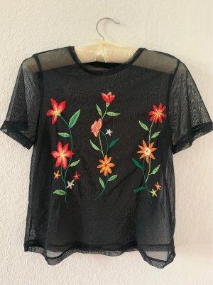 Transparentes Blumenshirt