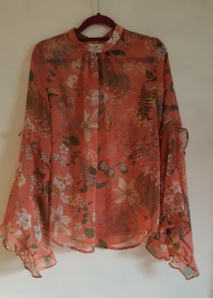 Chicwish Print Shirt rose-gold-coloured-light pink polyester