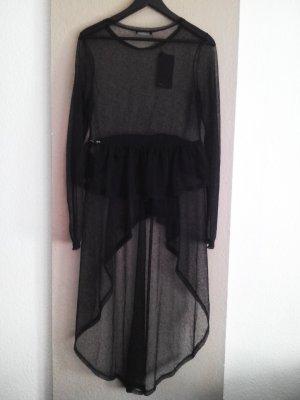 transparentes langes Oberteil in schwarz, Größe L neu