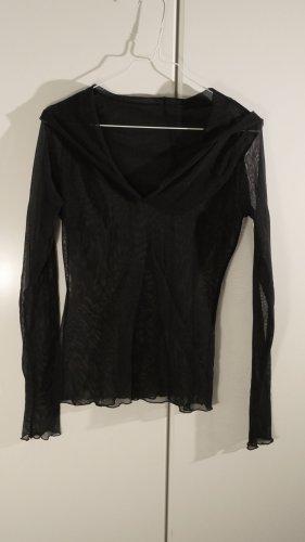 unknown Netshirt zwart Polyester