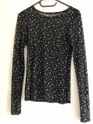 Zara Netshirt wit-zwart