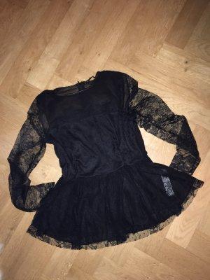 Zara Top de encaje negro