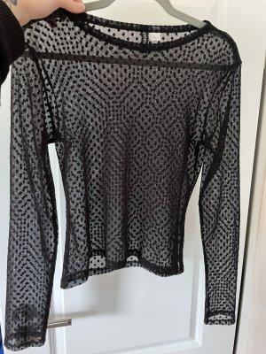 H&M Divided Koszula o skróconym kroju czarny
