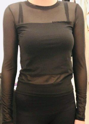 Bershka Netshirt zwart