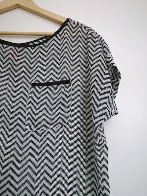 Transparentes Shirt in Zick-Zack-Muster