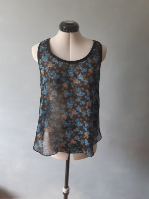 Transparentes Shirt mit Blumenmuster