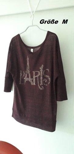 Transparentes Shirt mit drei viertel Arm